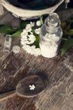 Гомеопатические бутылки и пилюльки Стоковое фото RF