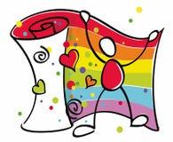 гомосексуалист флага смешной Стоковые Изображения RF