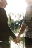 Гомосексуалиста пар влюбленности концепция Outdoors Стоковые Изображения