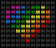 Гомосексуальные пары Стоковое Фото