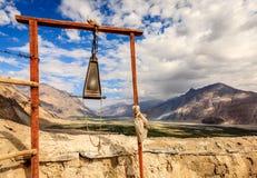 Гонг на монастыре Diskit Стоковая Фотография RF