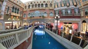 Гондола в венецианском казино видеоматериал