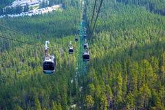 Гондола горы серы в национальном парке Banff Стоковое Изображение RF