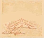 гондола предпосылки venetian Стоковое Изображение RF