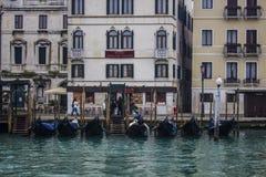 Гондолы Венеции Италии Стоковое Изображение RF