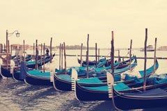 гондолы Венеция Италия Стоковое Изображение