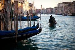 Гондолы Венеция стоковое фото rf