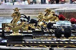 Гондолы в Венеции, Италии Стоковая Фотография