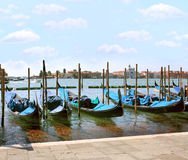 Гондолы в Венеция Стоковое Изображение