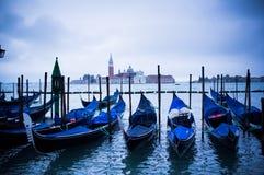Гондолы на квадрате St Marco в Венеция, Италии Стоковые Изображения RF