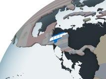 Гондурас с флагом на глобусе иллюстрация вектора