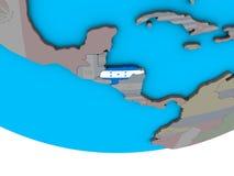 Гондурас с флагом на глобусе иллюстрация штока