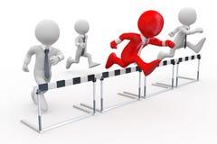 гонка барьера бизнесменов Стоковые Фото