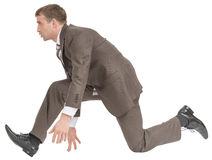 гонка бизнесмена готовая к Стоковое фото RF