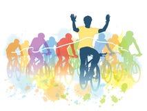 Гонка велосипеда иллюстрация штока
