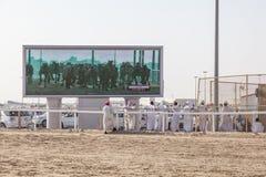 Гонка верблюда в Дохе, Катаре Стоковые Изображения