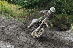 Гонка всадника Motocross Стоковое Изображение RF