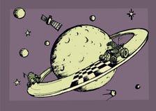 Гонка в космосе Стоковые Изображения RF