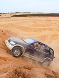 Гонка в пустыне, летний день дилетанта. стоковое изображение rf
