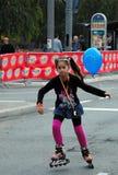 гонка девушки воздушного шара Стоковое Изображение