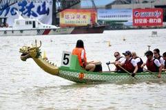 гонка дракона шлюпки Стоковая Фотография