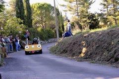Гонка импровизированной трибуны организованная в деревне Tornac Стоковое Изображение RF