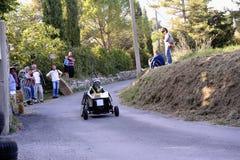 Гонка импровизированной трибуны организованная в деревне Tornac Стоковая Фотография