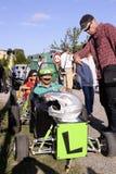 Гонка импровизированной трибуны организованная в деревне Tornac Стоковая Фотография RF