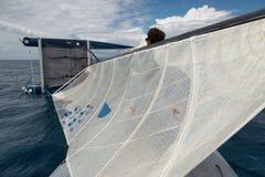 Гонка катамарана соотечественника формулы 18 в але Punta, Италии Стоковое фото RF
