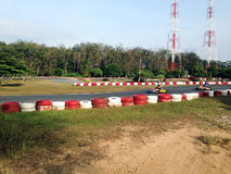 Гонка конкуренции следа Kart Стоковые Фотографии RF