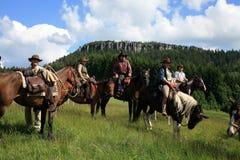 гонка лошади ковбоя западная Стоковая Фотография