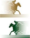 гонка лошади