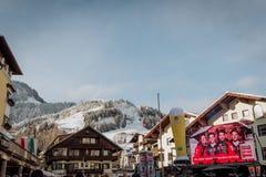 Гонка лыжи Hahnenkamm hel ¼ Kitzbà покатая стоковая фотография rf