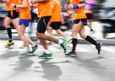 Гонка марафона идущая Стоковое Изображение