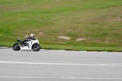 Гонка мотоцикла Стоковые Фотографии RF