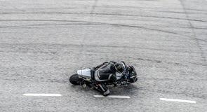 Гонка мотоцикла Стоковое Фото