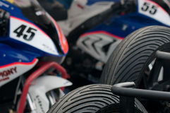 Гонка мотоцикла IRRC в Остенде Бельгии Стоковые Изображения RF