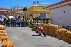 Гонка мотоцикла Miquel Carratala Сальвадора Стоковые Изображения