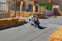 Гонка мотоцикла Supermotard Стоковые Фотографии RF
