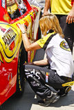 гонка осмотра charlotte nascar pre Стоковое Фото