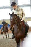гонка лошадей лошади проводки округляя поворот 3 Стоковые Изображения