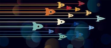 Гонка ракеты дела Стоковая Фотография RF