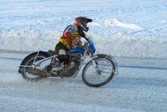 Гонка скоростной дороги льда Tyumen Россия Стоковая Фотография