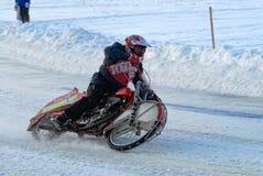 Гонка скоростной дороги льда Tyumen Россия Стоковые Фото