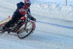 Гонка скоростной дороги льда Tyumen Россия Стоковое Фото