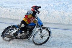 Гонка скоростной дороги льда Tyumen Россия Стоковые Изображения