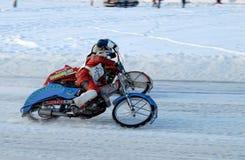 Гонка скоростной дороги льда Tyumen Россия Стоковое Изображение