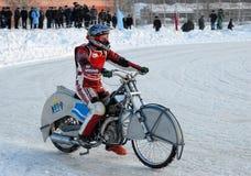 Гонка скоростной дороги льда Tyumen Россия Стоковая Фотография RF