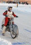 Гонка скоростной дороги льда Tyumen Россия Стоковые Изображения RF
