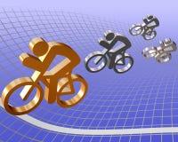 гонка bike иллюстрация вектора